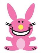 It's Happy Bunny Decorative Pillow