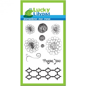 Lucky Lilypad Clear Stamps, Crazy Daisy, 10cm by 15cm