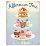 Afternoon Teas Tin Sign