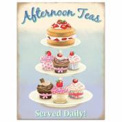 Afternoon Teas Tin Sign