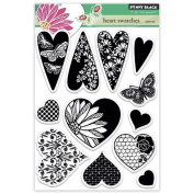 Penny Black Heart Swatches Decorative Stamp