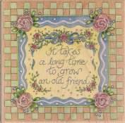 An Old Friend Wood Mounted Rubber Stamp