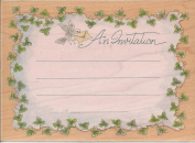 Ivy Border Invitation Wood Mounted Rubber Stamp