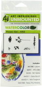 """Art Impressions 4052 Watercolour Series """"WC Flower Set"""" Rubber Stamp"""
