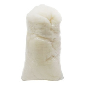 1Lb Bag of Carded Carbonised Wool - White