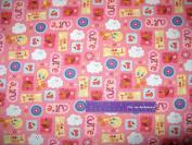 110cm Wide TWEETY Bird Cutie Pink Cotton Fabric BY THE HALF YARD