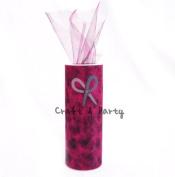 Tulle Cheetah Fuchsia Roll Spool Tutu 15cm X 25 Yards Wedding Gift Craft