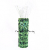 Tulle Cheetah Apple Green Roll Spool Tutu 15cm X 25 Yards Wedding Gift Craft