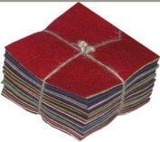 30 13cm Squares 100% Wool Felt Americana Colours Charm Pack