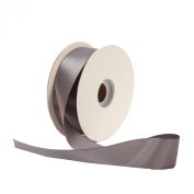 Offray Single Face Satin Craft 2.2cm by 100-Yard Ribbon Spool, Pewter