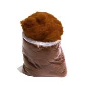 1LB Bag of 100% Natural Carded Virgin Wool
