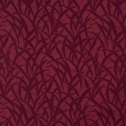 140cm E581 Burgundy, Grassy Meadow Jacquard Upholstery Grade Fabric By The Yard