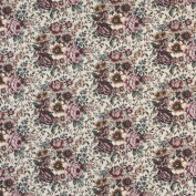 140cm Wide B960 Pink, Green And Orange, Floral Tapestry Upholstery Fabric By The Yard