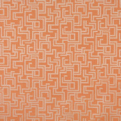 140cm Wide F635 Orange, Geometric Outdoor And Indoor Scotchgarded Fabric By The Yard