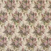 140cm Wide H119 Green And Pink, Floral Bouquet Tapestry Upholstery Fabric By The Yard