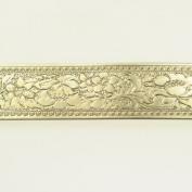 Wide Fancy Floral Nickel Silver Pattern Wire - 3 Feet