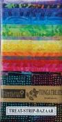 "Timeless Treasures Tonga Treats Bazaar Batik Stips 2 1/2"" x 44"" (2.5 Inch) Strips (6.4cm x 112cm) ~ 20 Designs ~ 40 Quilt Strips ~ 100% Cotton Like Jelly Rolls or Bali Pops"