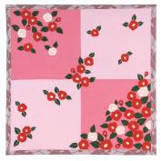 Camellia Pink Japanese Kimono Print Chirimen Furoshiki Cloth
