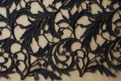 Hot wholesale Black Lace Fabric 110cm Width Hollow Embroidery France Fashion Bride Wedding Dress Fabric From Randyfabrics By Yard
