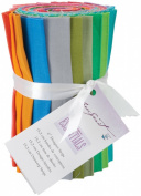 Designer Essentials 15cm Fabric Solid Strips 100% Cotton-Bold Solids Strip Roll
