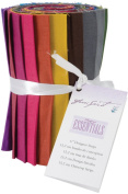 Designer Essentials 15cm Fabric Solid Strips 100% Cotton-Subtle Solids Strip Roll