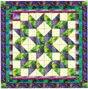 Easy Quilt Kit Carpenters Wheel Batiks