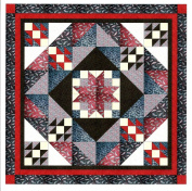 Easy Quilt Star Medallion Red/Black/White Paisley