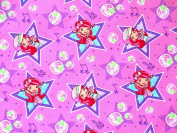 STRAWBERRY SHORTCAKE Pink Rock Star FABRIC (Great for QUILTING, SEWING, CRAFT PROJECTS, THROW PILLOWS & More) 2 Yards x 110cm Wide