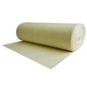 100% Wool Felt Cream 1.2 MM Thick X 63 Inches Wide X 1 Yard Long