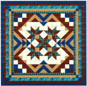 Easy Quilt Kit Heavens Variation Blue/Brown/Queen