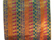 Indian Silk Brocade Paisley Designer Fabric