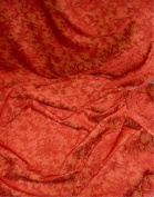 Donghia Morgane Tomato Red Chenille Tapestry Fabric 2 3/4 Yards