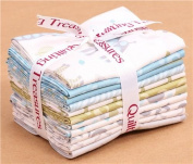 Fat Quarter fabric bundle animal blue Quilting Treasures