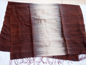 Free Shippong - Hand Woven - 100 % Thai Silk 200cm X 70cm Winter Scarf / Shawl / Tablecloth / Home Decoration