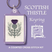Textile Heritage Keyring Counted Cross Stitch Kit - Scottish Thistle