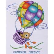 Tobin Balloon Cat Sampler Counted Cross Stitch Kit
