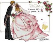 14 Counted Aida Cross Stitch Wedding Kit Kd022