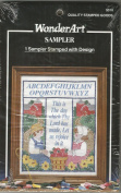 Stamped Cross Stitch Sampler - Religious Saying