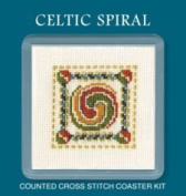 Textile Heritage Coaster Kit - Celtic Spiral