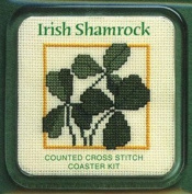 Textile Heritage Coaster Kit - Irish Shamrock