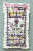 Textile Heritage Lavender Sachet Counted Cross Stitch Kit - Tartan Thistles