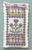 Textile Heritage Lavender Sachet Counted Cross Stitch Kit - Tartan Thistles