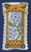Textile Heritage Lavender Sachet Counted Cross Stitch Kit - Mediaeval Garden