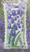 Textile Heritage Lavender Sachet Counted Cross Stitch Kit - Bluebells