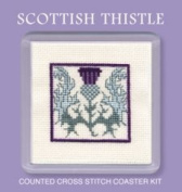Textile Heritage Coaster Kit - Scottish Thistle