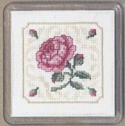 Textile Heritage Coaster Kit - Damask Rose