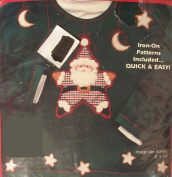 Santa Star Felt and Fabric Applique Craft Kit