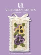 Textile Heritage Lavender Sachet Counted Cross Stitch Kit - Victorian Pansies