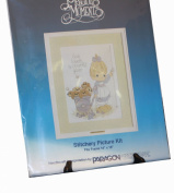 Paragon Needlecraft - Precious Moments Stitchery Picture Kit - God Loveth a Cheerful Giver - Fits Frame 36cm by 46cm