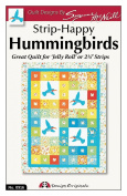 Design Originals DO916 Strip-Happy Quilting Template, Hummingbirds